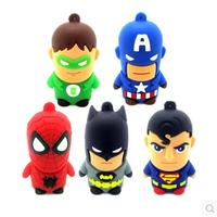 2014 Super Heros pendrive 8gb 16gb 32gb 64gb 128gb batman pen drive usb flash drive gift external storage