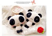 10cm Cute Lovely Panda Plush Mni Toy Keychain Phone Decoration  Animal Baby Kid Toy X-mas Wedding Birthday Children's Day Gift