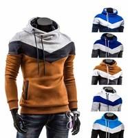 Men Jacket Top Brand Men Dust Coat Hoodies Clothes Sweater Overcoat Outwear Patchwork Pullovers M~3XL 8691001215