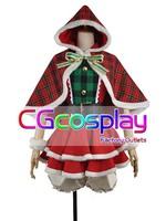 Free Shipping Cosplay Costume Love Live! Koizumi Hanayo Christmas Dress New in Stock Retail /Wholesale Halloween Party Uniform