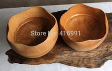 Handmade Bamboo Lotus Bowl Naturally Fine Tea Set Home Decoration Snacks Fruit Plate 2pcs lot Free