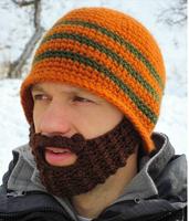 free shipping (min order 10USD) new design fashion cool Helmet weave big beard Riding hat