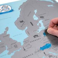 Luckies Travel Scratch Map Luckies Scratch Map Europe Gift Collection World Map European Version 30pcs