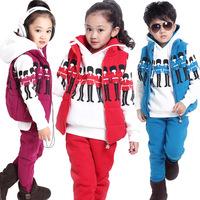 Winter clothing the new children's wear children suit soldiers fleece cuhk children with velvet thickening movement