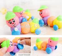 2015 New Free Shipping Cute Wind up Carpenterworm Cutworm Clockwork Spring Bug Children Toy