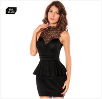 New Embroidery Sexy Women Dresses Sleeveless Fashion Europe and America Elegant Dress HM22