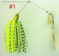Hot sale 3pcs 14.8G spinner bait,buzz bait,fishing lure,fishing bait,fishing spoons,rubber jig spinner lure(bait) s6