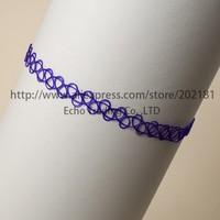 Free Shipping 500pcs/lot vintage stretch tattoo henna choker hippy necklace