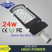 free shipping sale 12V 24V AC85-265V 24W led street light Bridgelux 45mil 130-140lm/W 2 year warranty IP65 LED led streetlight