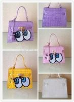 Y1502 Fashion Crocodile leather handbag Mini eyes handbag sweety bag Luxury crocodile handbag