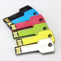 HOT Sale! Metal Key USB Flash Drive 64GB Silver Gold Blue Green Black color Memory Stick Disk Thumb drive Pen drives Pendrive