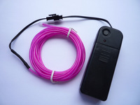 Purple Neon Light Glow EL Wire Rope Tube Car Dance Party Beautiful 3M