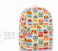 New 2014 Profusion colour owl Lovely backpack canvas bag handbag