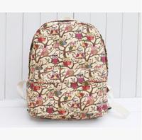 New 2014 Profusion colour owl Lovely backpack canvas bag handbag-2