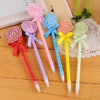 24pcs/lot Novelty Stationery Cute Cartoon Lollipop Design Ballpoint Pen Kawaii Ball Pen For School Office Student Gift Wholesale