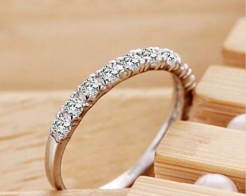 Мода белый / красный / фиолетовый кристалл любовь кольца для женщин свадьба обручальное ...