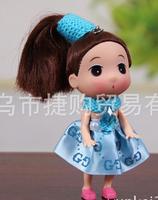 Ddung pendant doll 12pcs 12cm exquisite ponytail mocmoc girl cloth bag key chain wedding gift children prize wholesale
