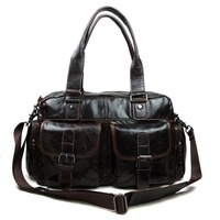 Male leather Travel bags Men genuine leather causal handbags big handbag Men shoulder bags