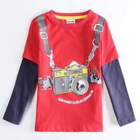 Fashion Kids Clothes Wholesale 1-6Y 5pcs a lot Boy's Kid Red Camera Pattern T Shirt Clothing,Boys Children T-Shirt Suit A5630Y