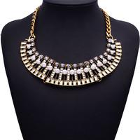 2015 New ZA Brand Fashion Statement Good Quality Luxury Crystal Pearl Women Vintage Jewelry 9745