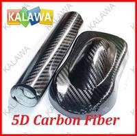 1.52Mx1M / 2PCS 5D carbon fiber vinyl film with bubble free High Quality 5D carbon fiber car sticker free shipping TTT