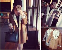 2015 Outwear Coat Selling Freeshipping Acrylic Nylon Abrigos Mujer Woman Coat Korean Women Winter New Exclusive Custom Lamb's