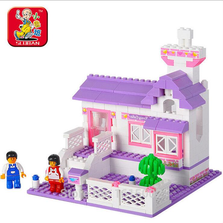 Sluban Baby block toys,Kids Baby Learning Toy for children Educational Plastic Toys Construction Blocks Model ET4(China (Mainland))