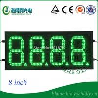 Wholesale hidly brand  8 inch green color  LED digital display  for LED gas price station usage/LED  red color 4 digital display