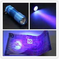 10PCS/Lot 9 LED Ultra Violet UV Blacklight MINI Portable Flashlight Torch Light Lamp AAA Batteries