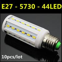 Ultrabright SMD 5730 LED Lamp E27 44leds 14W AC220V-240V Warm White/White Corn Bulb Light For Christmas decoration 10pcs/lot