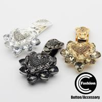 A high-grade drill Coat / Mink / fur / fur / fur duckbill buckle button buttons glass diamond buckle clasp
