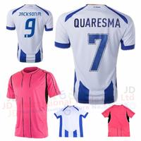 Thai A+++ Free shipping FC Porto jersey 2014 2015 home blue Quaresma soccer jerseys away pink Tello Lucho Jackson m shirt 14 15