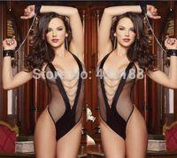 2014 New Women's Sexy Lingerie Lace Dress Underwear Black Babydoll Sleepwear+G-string