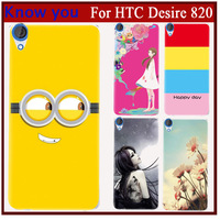 22 Design Transparent  Hard Back Print Shell Animated Cartoon comic Cover Case For HTC Desire 820 Case Accesoriess phone cover