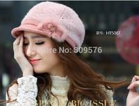 Fashion winter wool caps,warmming adult wool hats.Girls beauty hat.