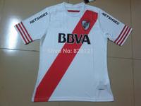 New Arrived 2014/15 Best Thai Quality River Plate Home White Football Soccer Jerseys 14 15 Munoz Moreno Gomez Fooball Shirt