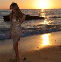 Hot Selling Women Sexy Strapless Dresses Ladies Elegant Sequined Sleeveless vestidos femininas Slim Bodycon Long Dress cx852814
