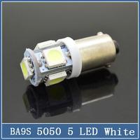 50x BA9S LED Car LED T4W H21W H6W Cree Projector 5 SMD 5050 Turn Signal Light Parking Reverse Day Running Bulbs Lamp White 12V