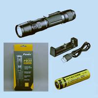 Free shipping-Original FENIX PD35 960  flashlight 960 lumens+ rechargeable NL188 3100mah battery + XTAR MC1 USB charger