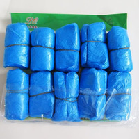 100x Elastic Disposable Plastic Protective Shoe Covers Carpet Cleaning Overshoe