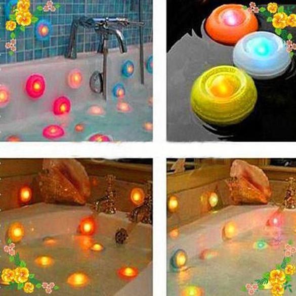 Color Changing Bath Tub Swimming Pool Floating LED Night Light Waterproof Romantic Pond Spa Hot Tub LED Night Light 1#JT(China (Mainland))