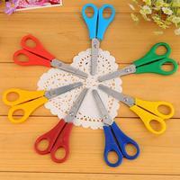 5PCS Stainless steel scissors paper cutter scrapbook Yarn photo album scissors children kids Stationery scissors Free Shipping