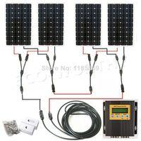 EU stock 4*150W 18V mono solar panel + 20A MPPT charge controller 600W solar system * no taxis no duty