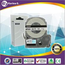 1PCS 36mm*8m  label tape  black on white replacement for  KingJimSR150  free shipping