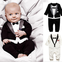 Baby Kid Boy Cotton Gentleman Jumpsuit Romper Bodysuit Clothes Outfit 4SizesFree Shipping 1pc/lot