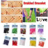 5Bag/lot 1bag= 300 pcs rubber band +10pcs clips+1 hooker LOOM KIT DIY LOOM BANDS Rubber BRACELET MAKING KIT free shipping
