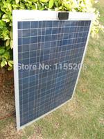 80W Poly Semi-Flexible solar panels for car,boat,caravan,80 watt poly solar panel module ,free shipping