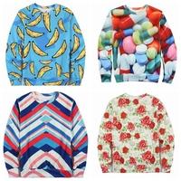 Top Sale 2015 New Brand 3D Novelty Print Hoodies For Men Sports Jogging Male Sweatshirt Hombre Chandal Blusas Free Ship n3d005