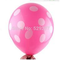 Free Shipping~1 pack 12 inch Birthday balloon full wedding lover Print dot balloons