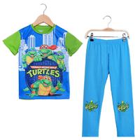 2015 New Cartoon Pajamas For Children's Wear Sets Batman Cotton Boys Sleepwear Nightwear Short Sleeve Kids Turtles Pyjamas PS092